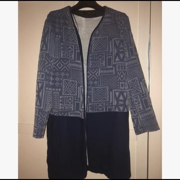 Zara Jackets & Blazers - Zara Geometric Pattern Coat